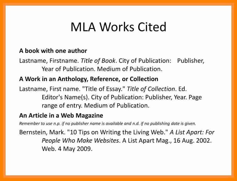 Example Of Work Cited Mla Elegant 16 Mla format for Works Cited