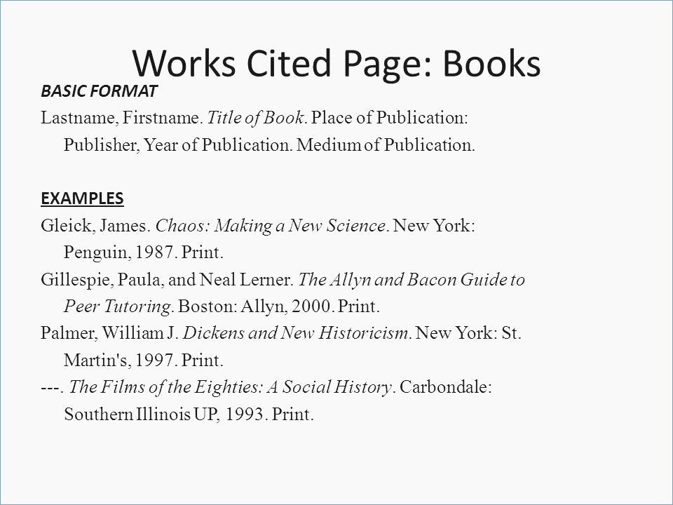 Example Of Work Cited Mla Luxury 16 Mla format for Works Cited