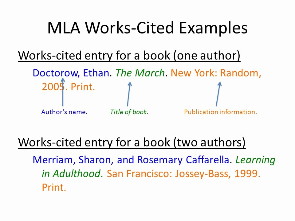 Example Of Work Cited Mla Unique Ch 11 Reading and Writing Argument Essays Ppt