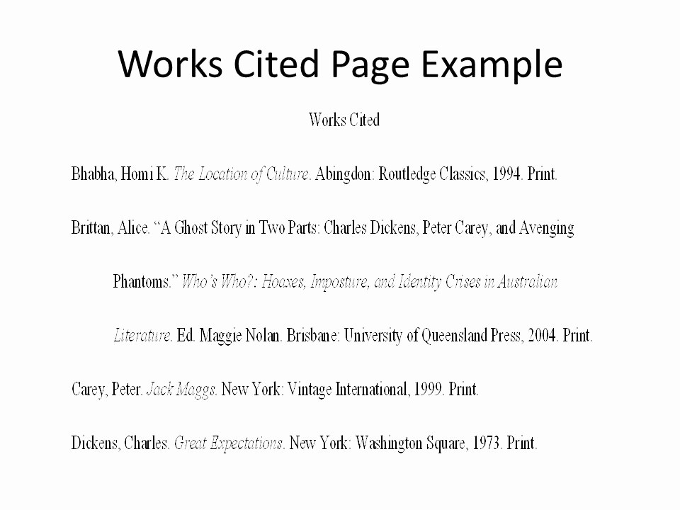 Example Of Works Cited Pages Fresh the Humanities Essay Ppt