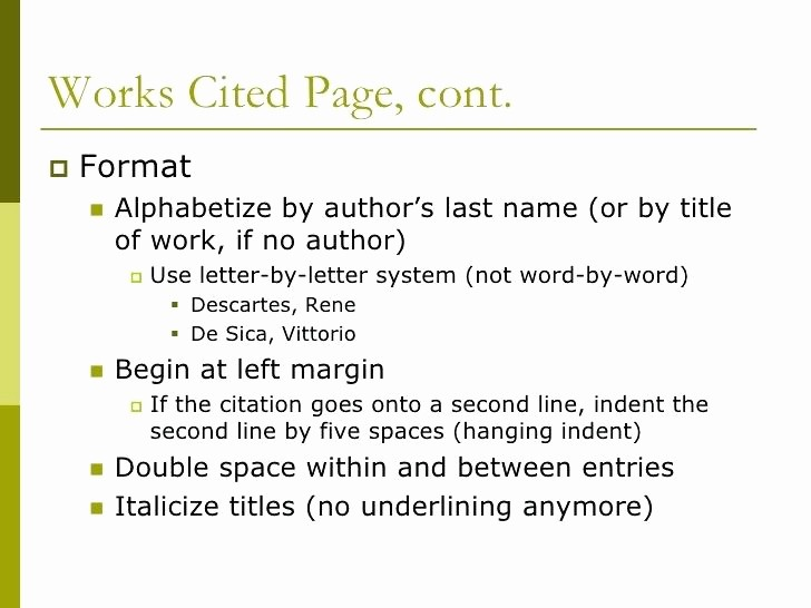 Example Of Works Cited Pages Luxury How to Cite An Article In Mla format without Author