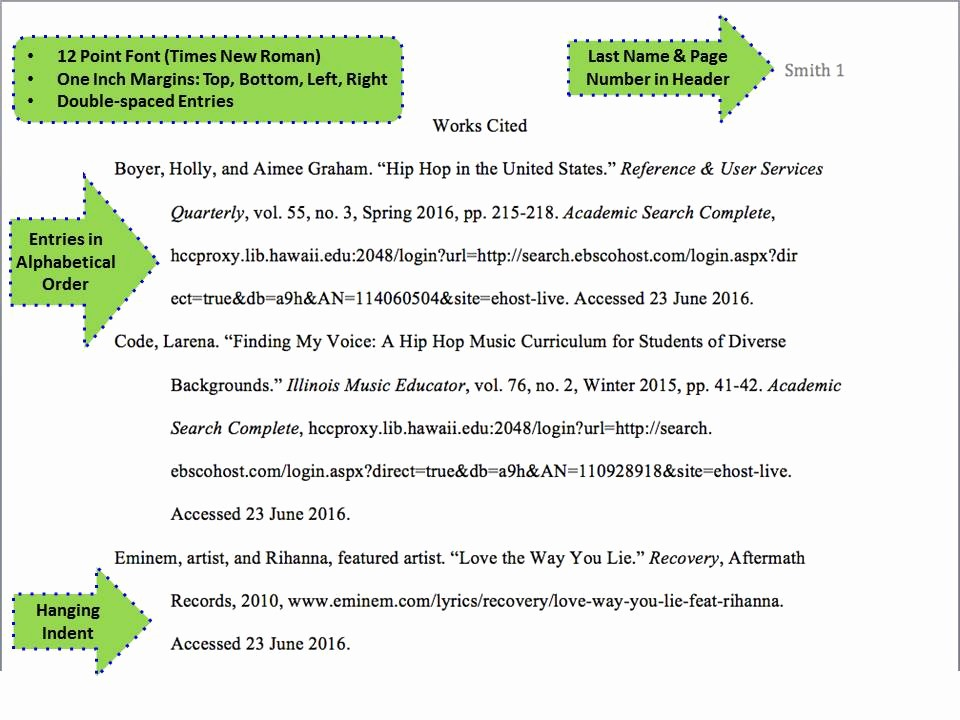 Example Of Works Cited Pages Luxury Mla Style 8th Ed Citing Your sources Research Guides