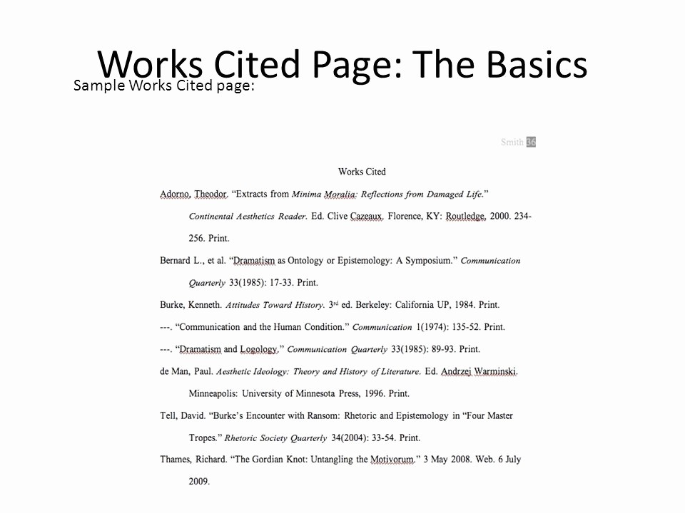 Example Of Works Cited Pages Luxury Mla Works Cited & In Text Citations Ppt Video Online