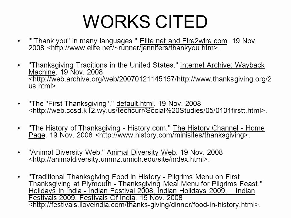 Example Of Works Cited Pages Luxury Works Cited Correct format for Websites Ppt Video
