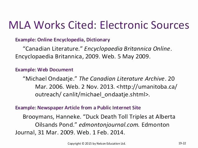 Example Of Works Cited Pages New Mla Citation format for Websites with Two Authors