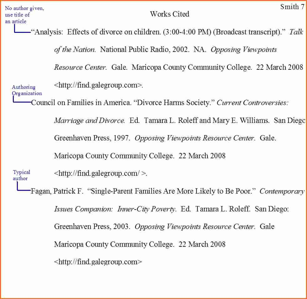 Example Of Works Cited Pages New Mla Works Cited Page Template Templates Data