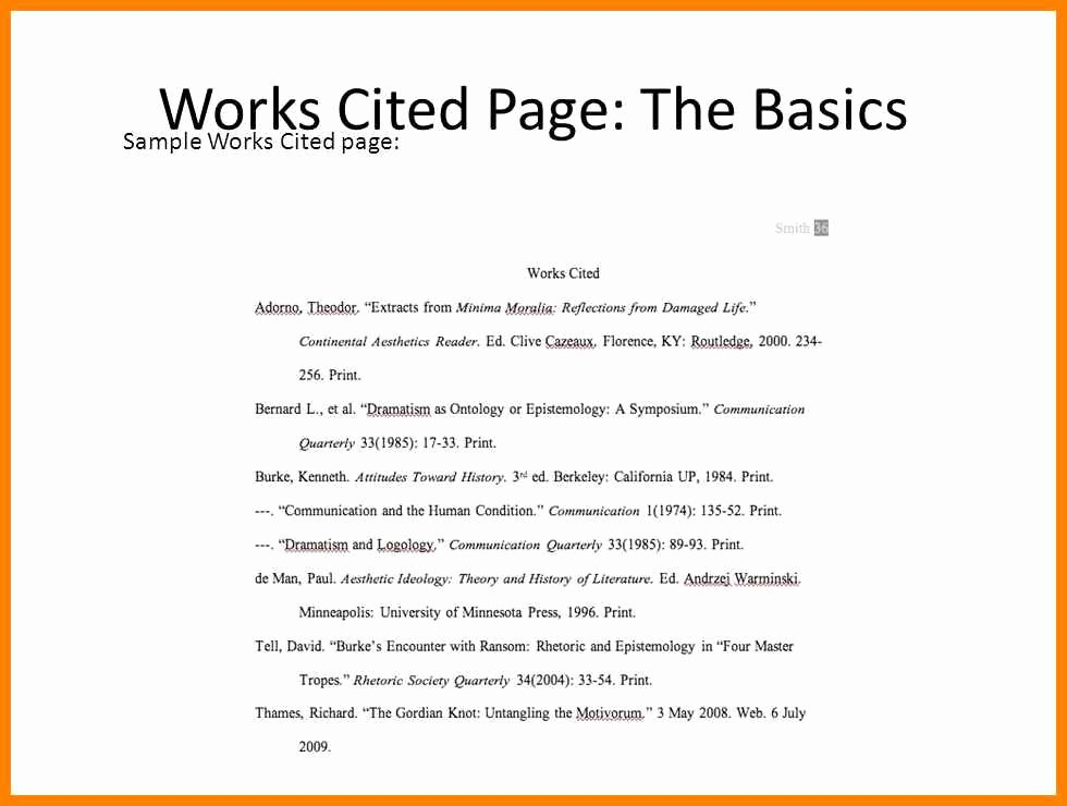 Example Work Cited Page Mla Awesome 16 Mla format for Works Cited