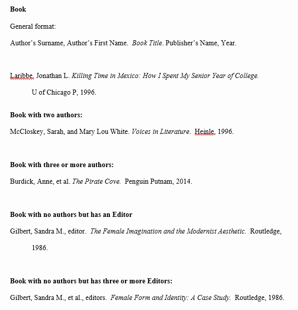 Example Work Cited Page Mla New Works Cited Page Mla Citation Style 8th Edition