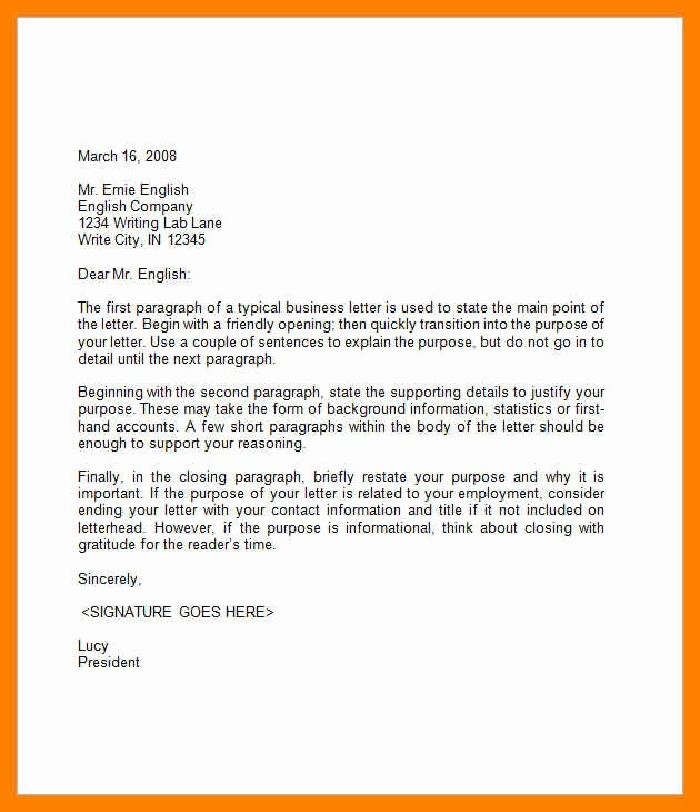 Examples Of A Business Memo Beautiful Email Business Letter format