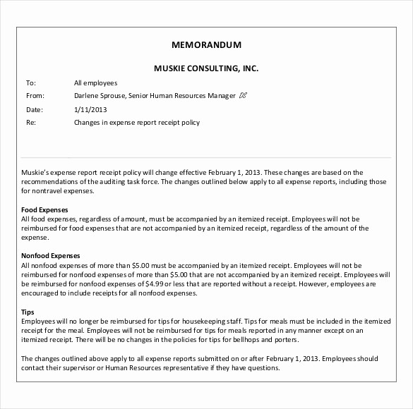 Examples Of A Business Memo Fresh 12 Business Memo Templates – Free Sample Example format