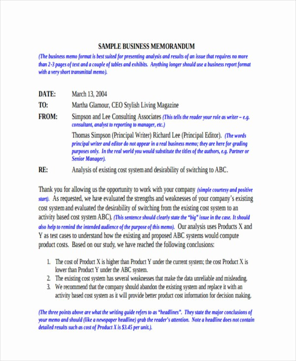 Examples Of A Business Memo Fresh 14 formal Memo Examples Word Google Docs