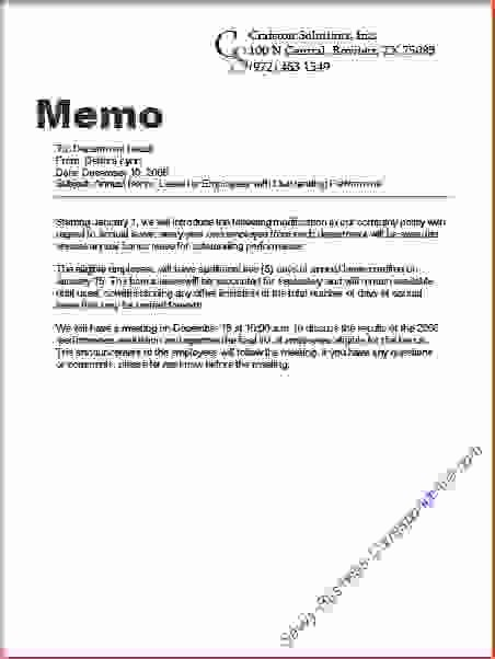 Examples Of A Business Memo Fresh 6 Business Writing Sample