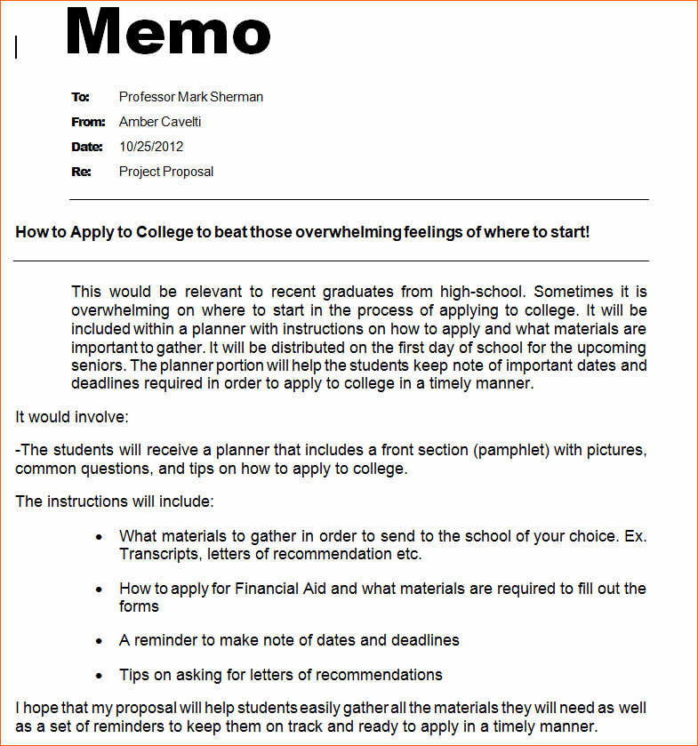 Examples Of A Business Memo Fresh 9 Proper Memo format
