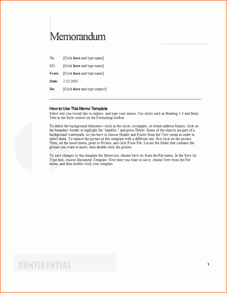 Examples Of A Business Memo Inspirational 8 Memo format Sample