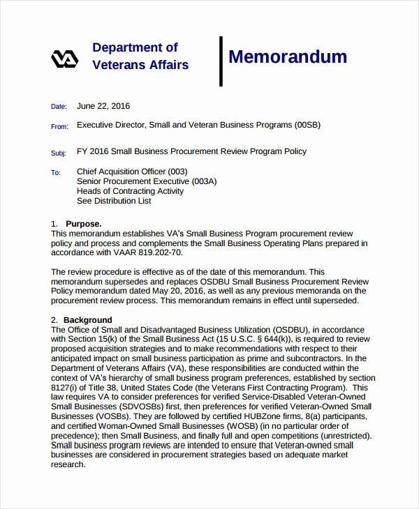 Examples Of A Business Memo Inspirational Business Memo format 20 Sample Word Google Docs format