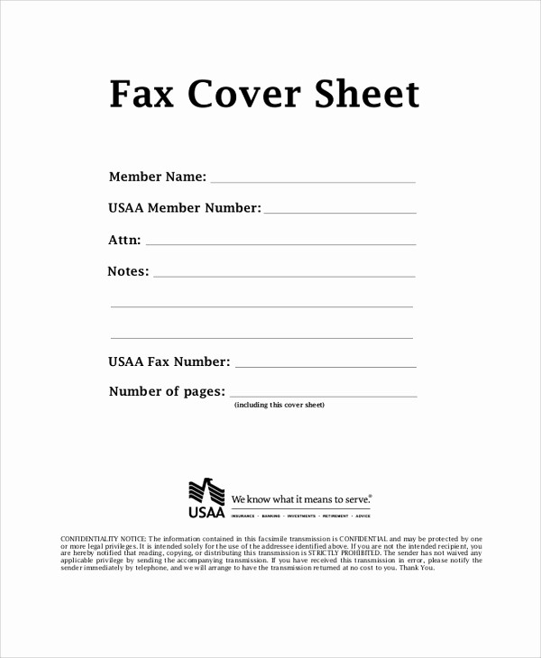Examples Of Fax Cover Sheets Inspirational 9 Printable Fax Cover Sheet Samples