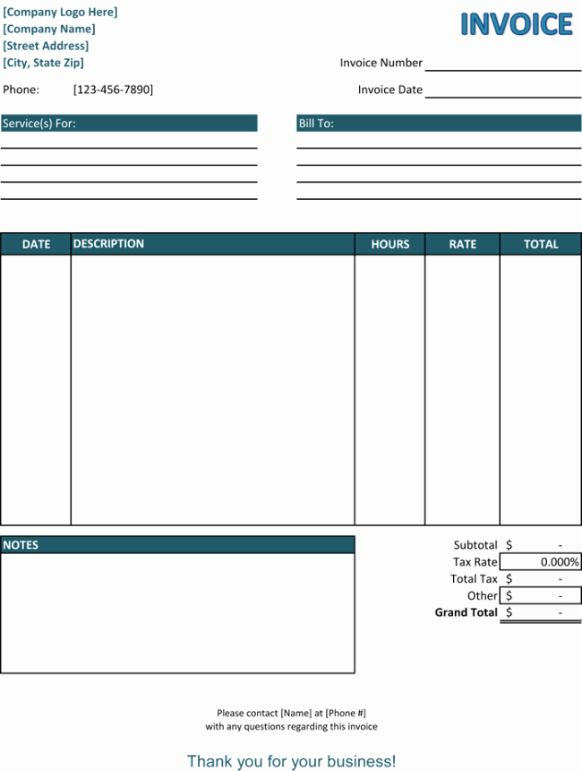 Examples Of Invoices for Services Beautiful 39 Best Templates Of Service Billing Invoice Examples