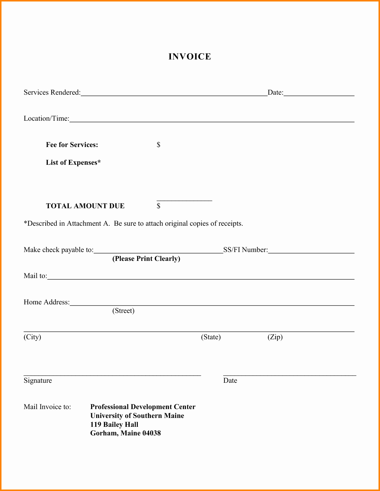 Examples Of Invoices for Services Beautiful 8 Billing Letter for Services Rendered