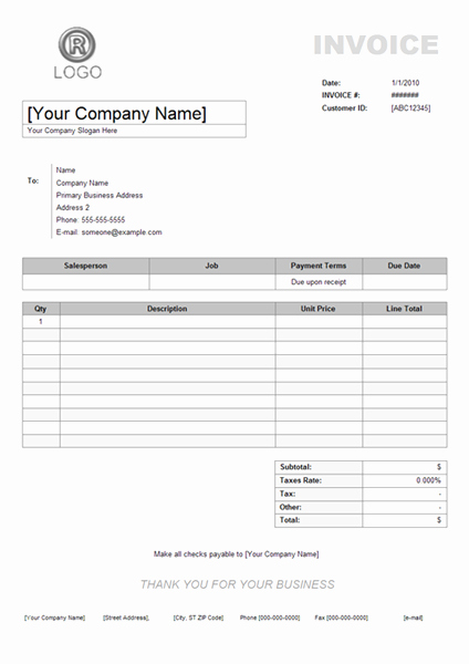 Examples Of Invoices for Services New Service Invoice Example