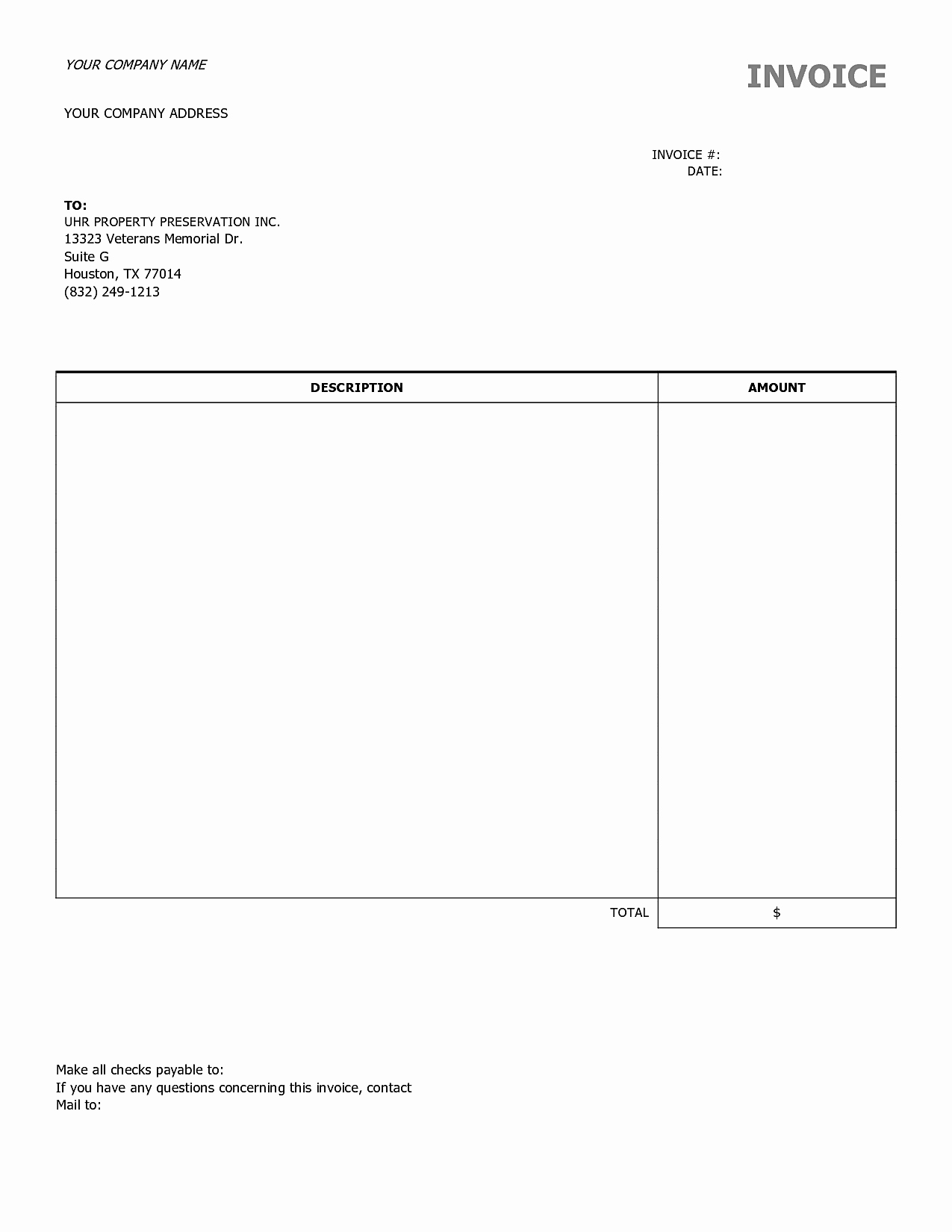 Examples Of Invoices In Word Fresh Blank Invoices to Print Mughals