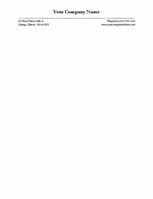 Examples Of Letterheads for Business Awesome Free Business Letterhead