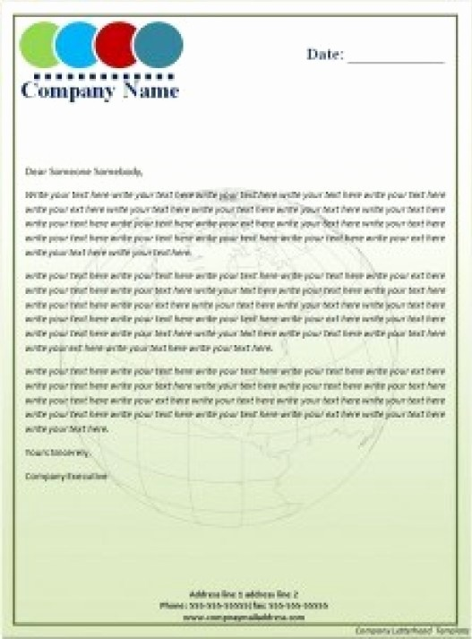 Examples Of Letterheads for Business Fresh 17 Pany Letterhead Templates Excel Pdf formats