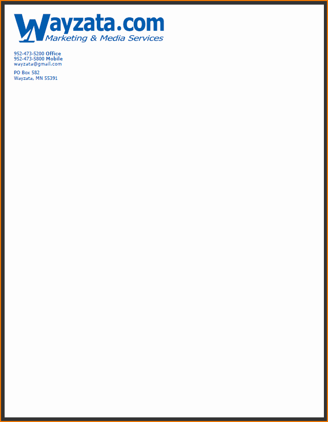 Examples Of Letterheads for Business Inspirational 4 Pany Letterhead Example