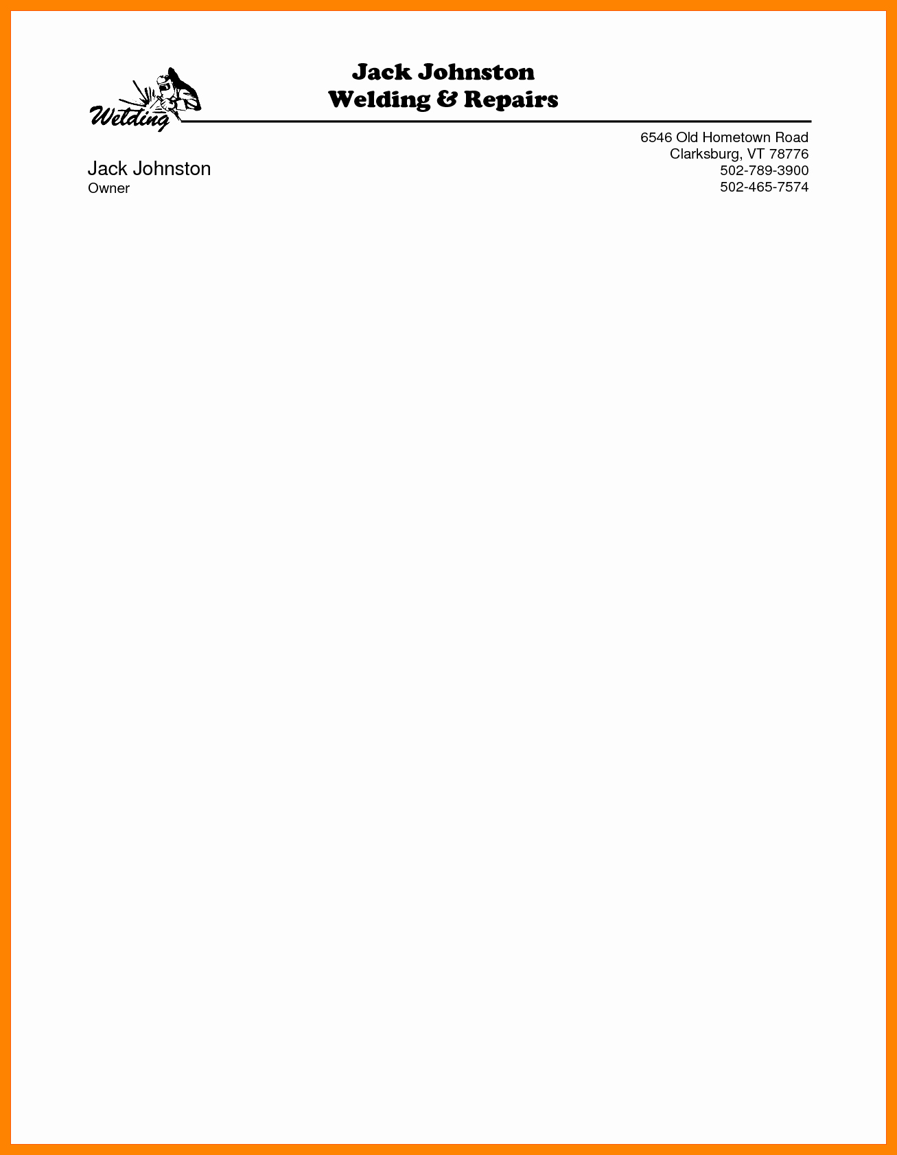 Examples Of Letterheads for Business New Microsoft Word Letterhead Template Free