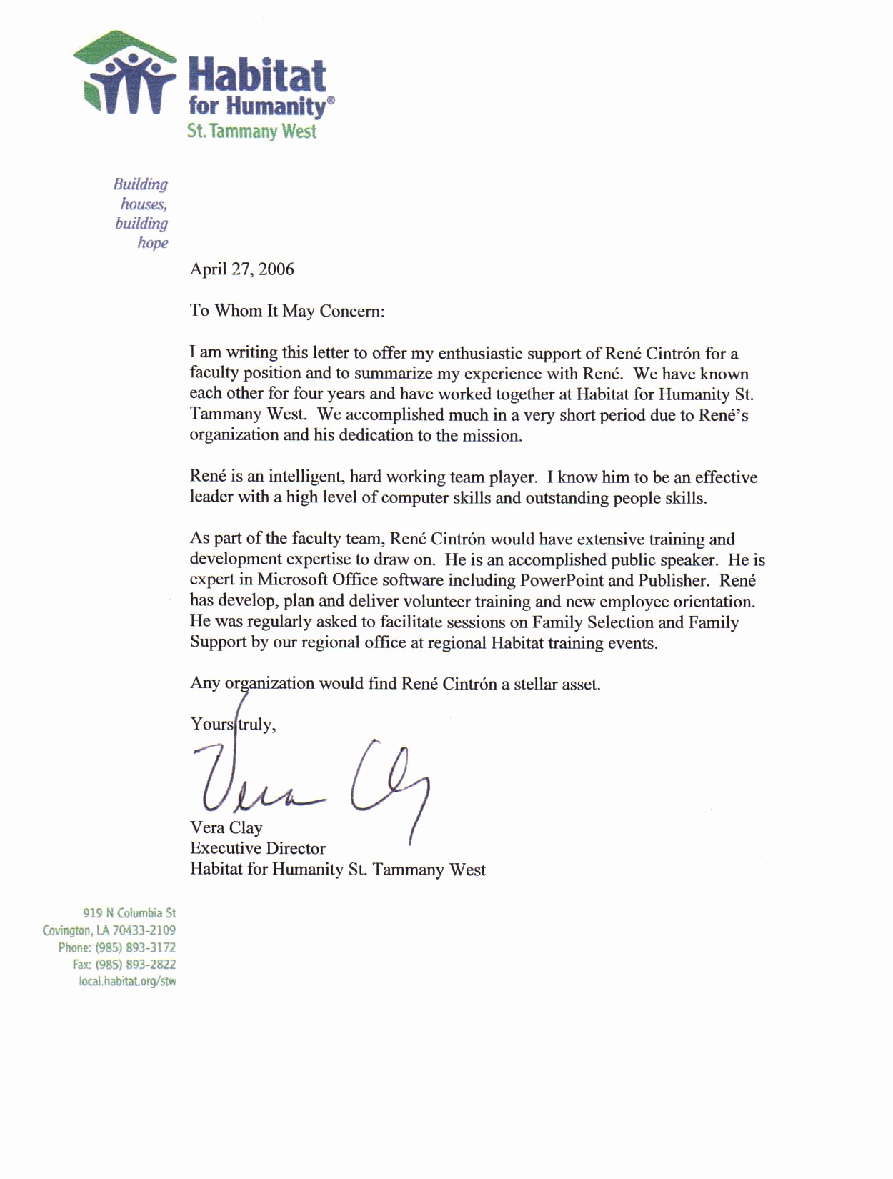 Examples Of Letters Of Reference Awesome Professional Reference Letter Example