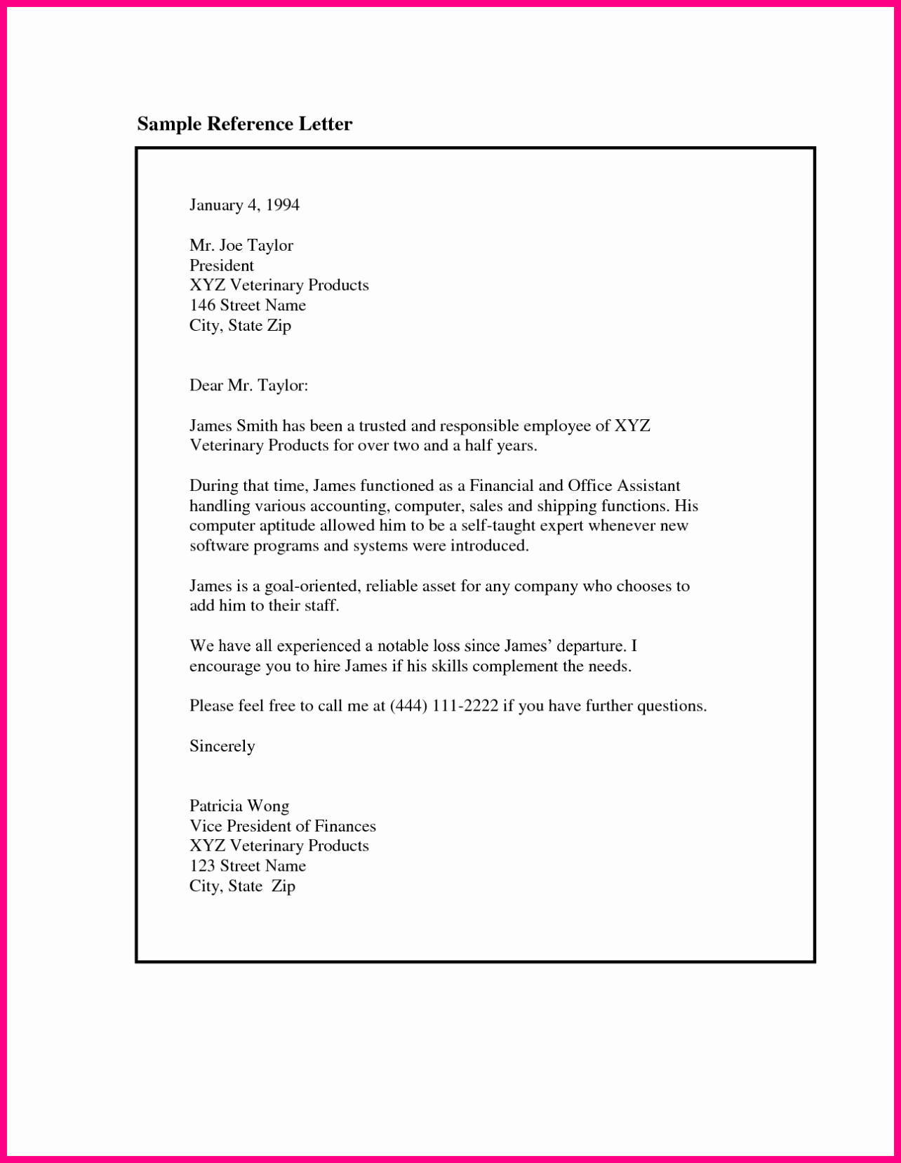 Examples Of Letters Of Reference Inspirational Writing A Letter Of Re Mendation Template Sample