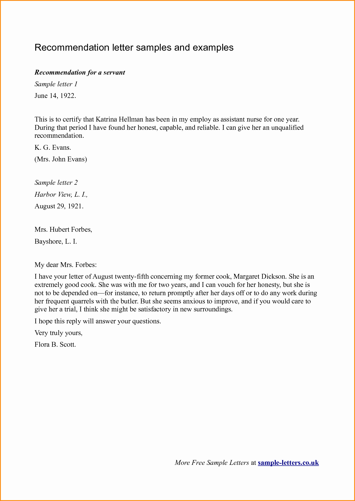 Examples Of Letters Of Reference Lovely 11 Good Letter Of Re Mendation Example