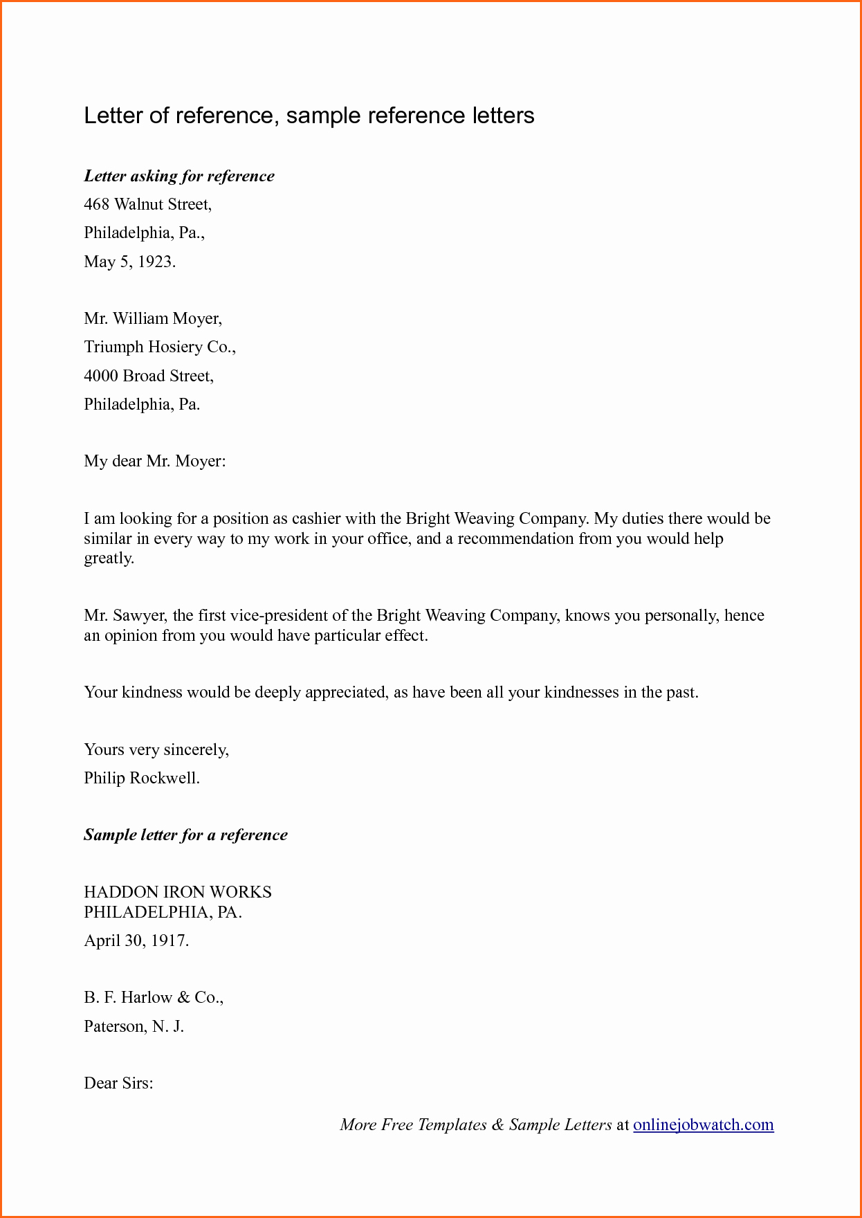 Examples Of Letters Of Reference Lovely 6 Sample Reference Letter Bud Template Letter