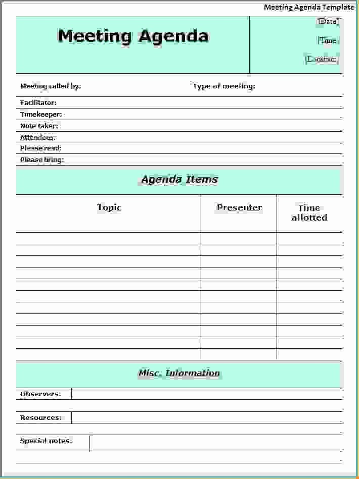 Examples Of Meeting Agenda Templates Beautiful 11 Meeting Agenda Word Templateagenda Template Sample