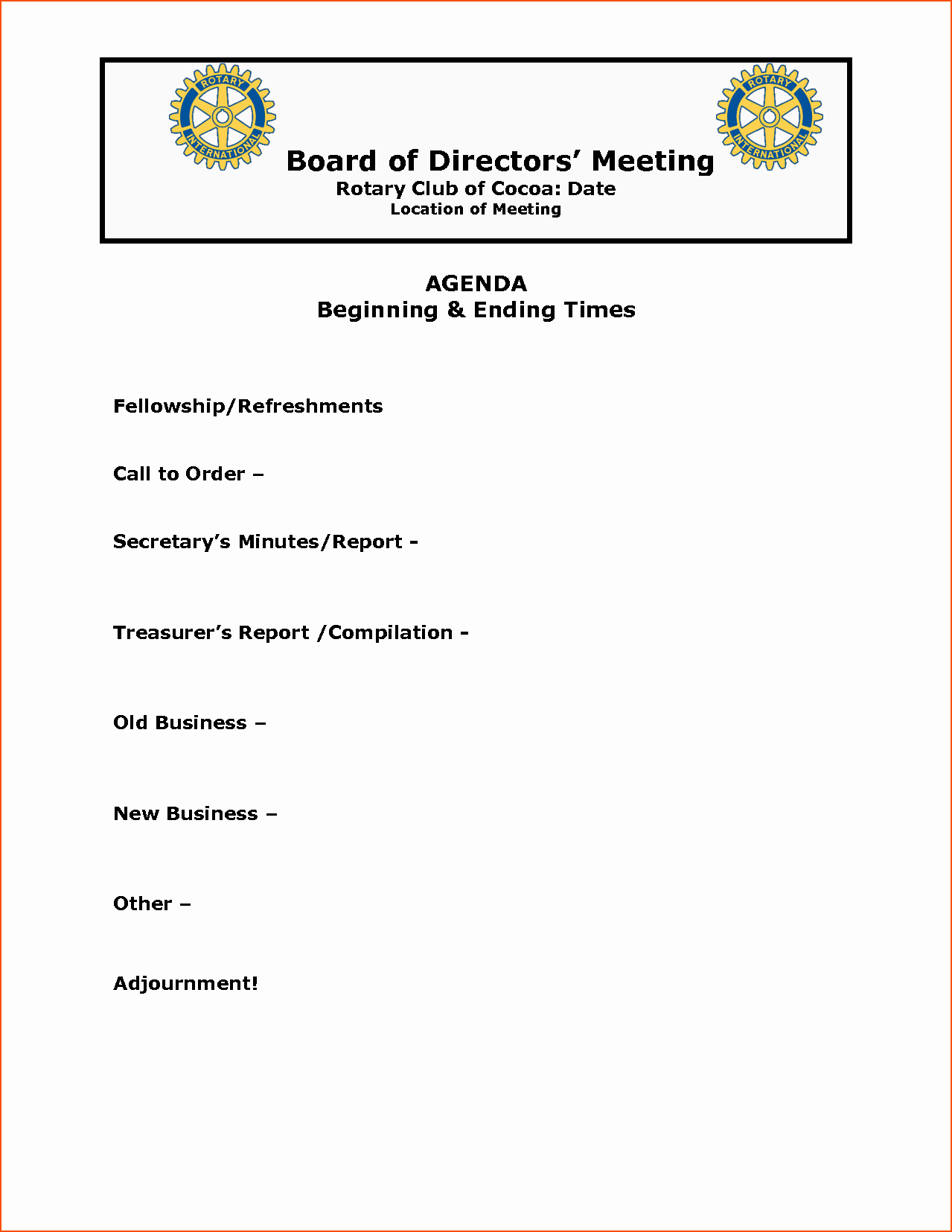 Examples Of Meeting Agenda Templates Beautiful 5 Meeting Agenda Example Bookletemplate