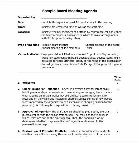Examples Of Meeting Agenda Templates Inspirational 25 Simple Agenda Templates Pdf Doc