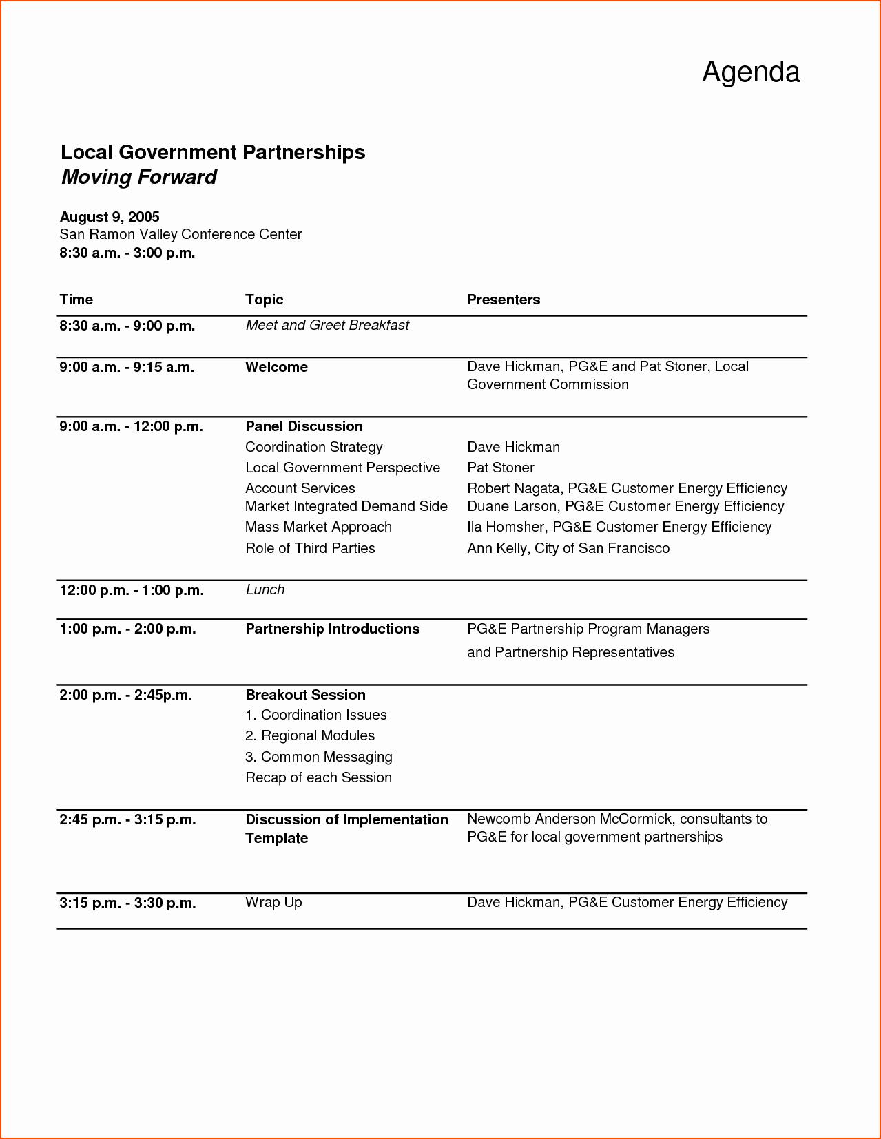 Examples Of Meeting Agenda Templates Luxury Meeting Agenda Word Template Bookletemplate