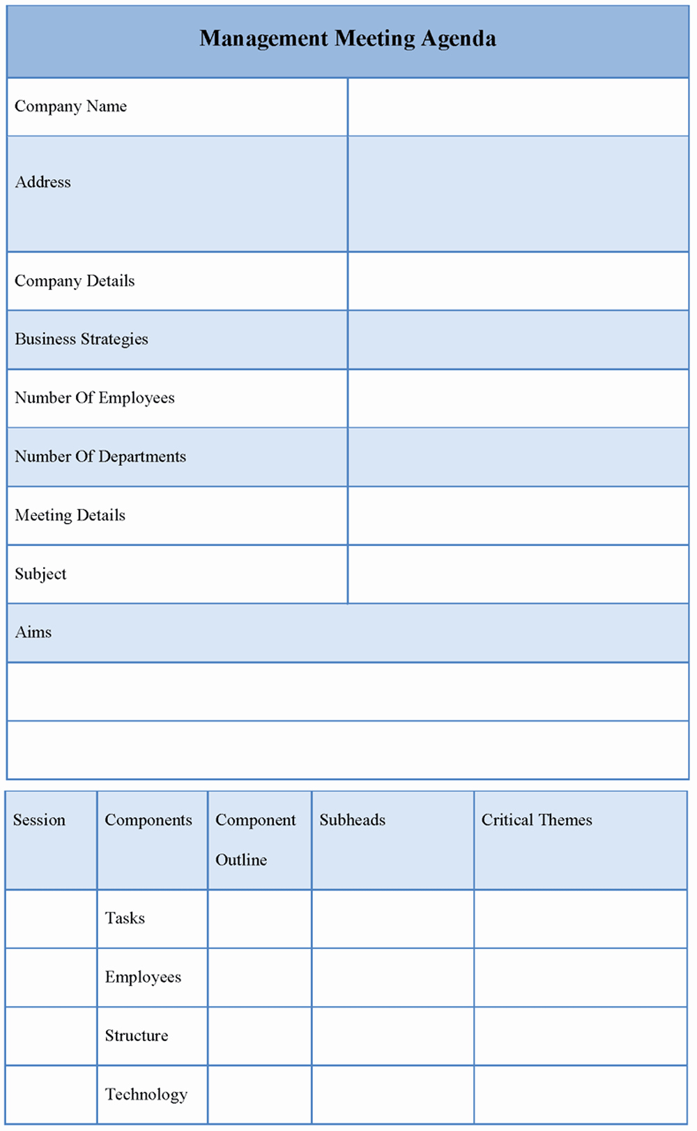 Examples Of Meeting Agenda Templates New Agenda Template for Management Meeting Sample Of