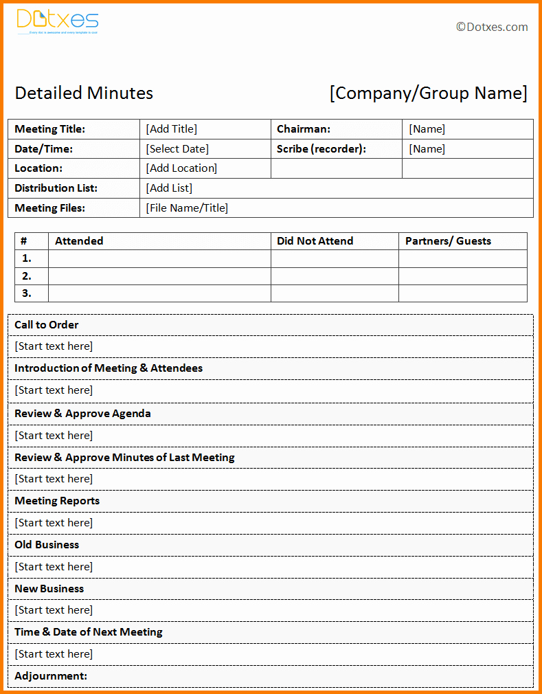 Examples Of Meeting Minutes Template Beautiful Free Meeting Minutes Template
