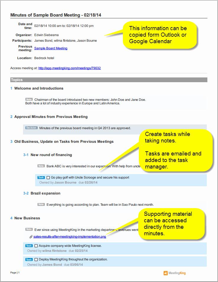 Examples Of Meeting Minutes Template Elegant Sample Board Meeting Minutes Template