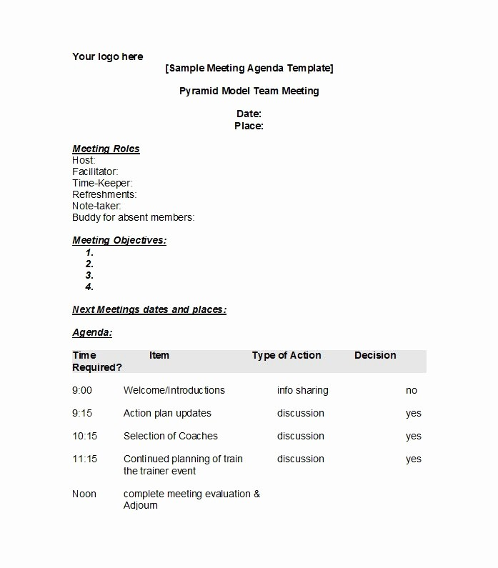 Examples Of Meeting Minutes Template Fresh 46 Effective Meeting Agenda Templates Template Lab