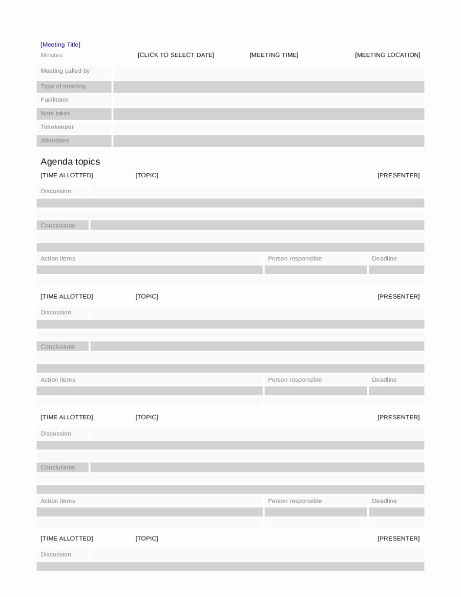 Examples Of Meeting Minutes Template Luxury 2018 Meeting Minutes Template Fillable Printable Pdf