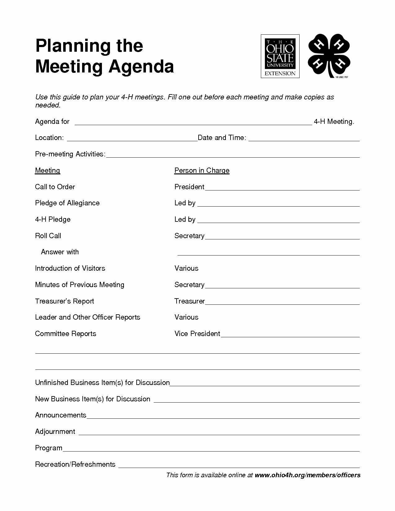 Examples Of Meeting Minutes Template Luxury 4 H Meeting Agenda Template Google Search