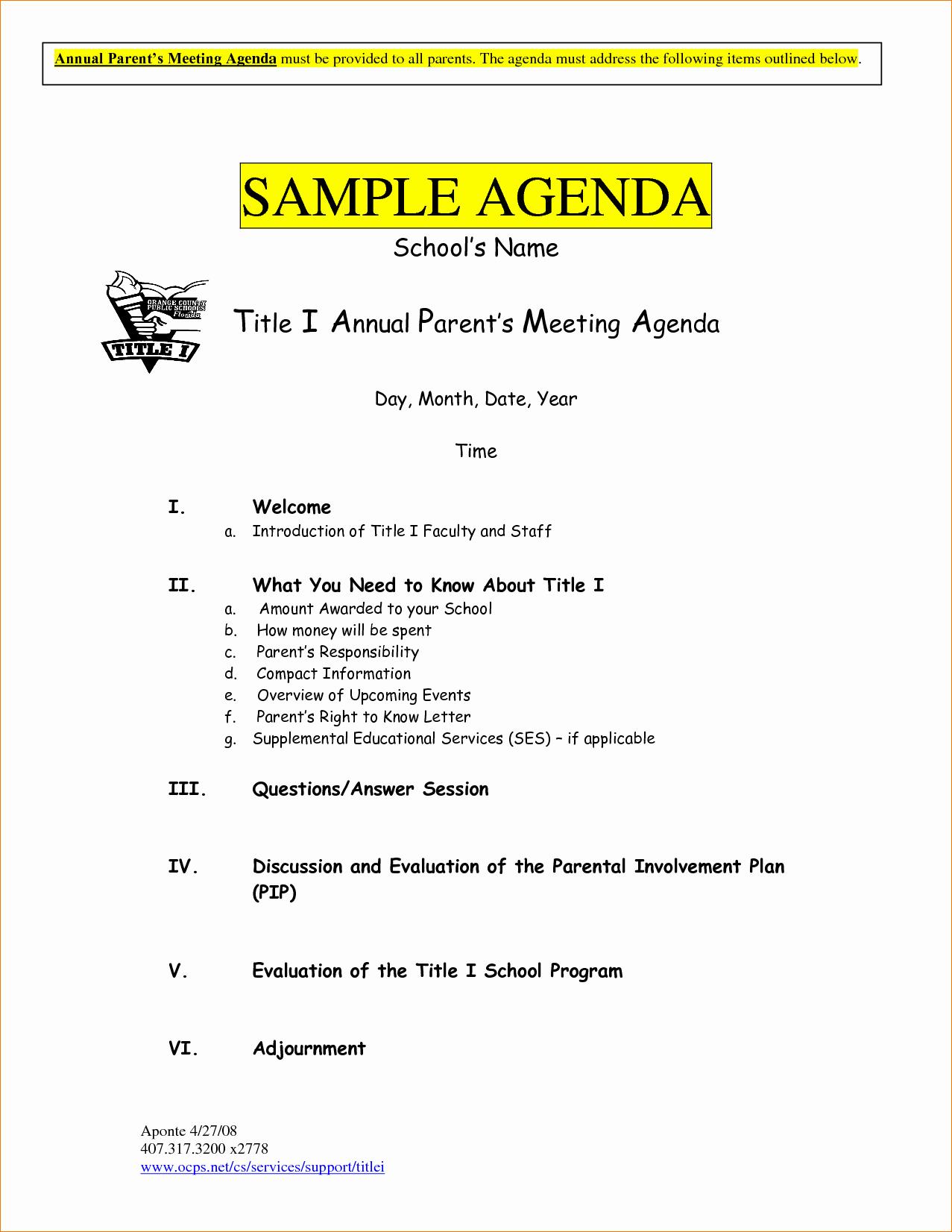 Examples Of Meeting Minutes Template New 10 Meeting Agenda Examplesagenda Template Sample