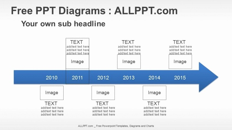 Examples Of Timelines In Powerpoint Beautiful 6 Years Arrow Timeline Ppt Diagrams Download Free