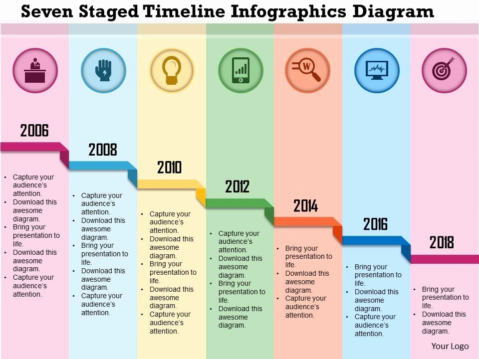 Examples Of Timelines In Powerpoint Fresh 0115 Seven Staged Timeline Infographics Diagram Powerpoint