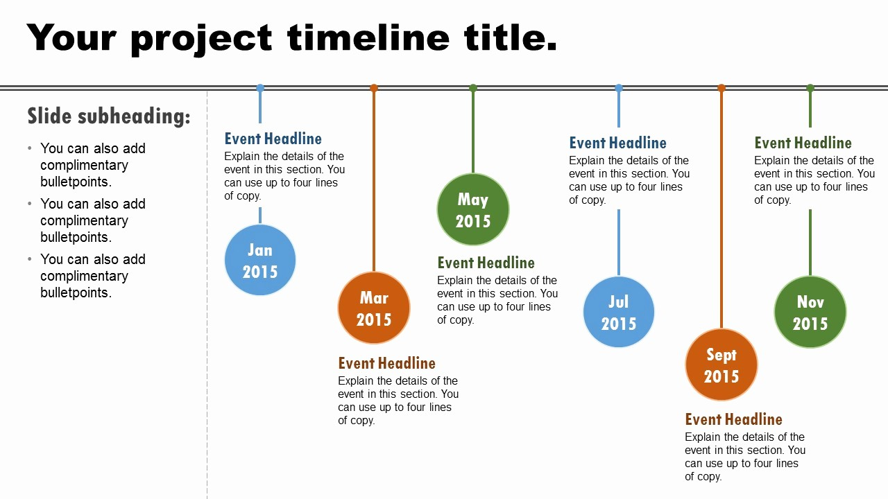 Examples Of Timelines In Powerpoint Inspirational Imaginationmachine Basic Timeline Static Powerpoint
