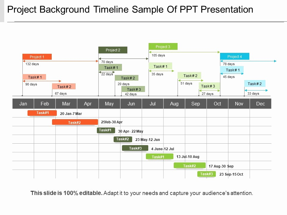 Examples Of Timelines In Powerpoint Inspirational Project Background Timeline Sample Ppt Presentation