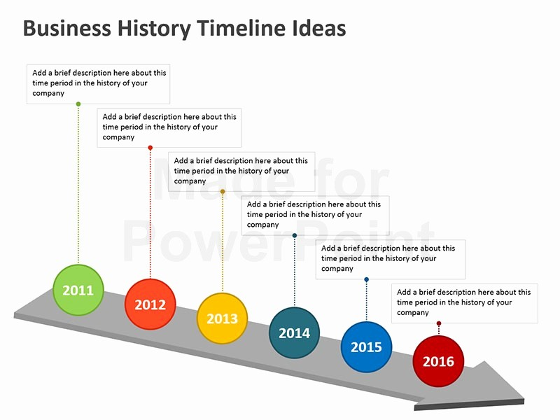 Examples Of Timelines In Powerpoint Unique Business History Timeline Templates