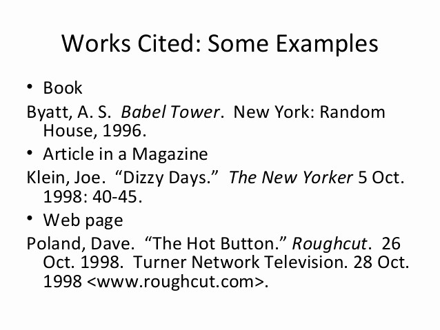 Examples Of Work Cited Pages Awesome Cross Referencing Using Mla Style