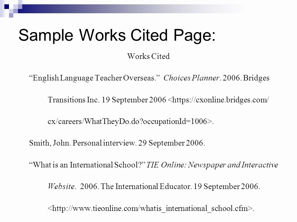 Examples Of Work Cited Pages Awesome the I Search Paper Ppt Video Online